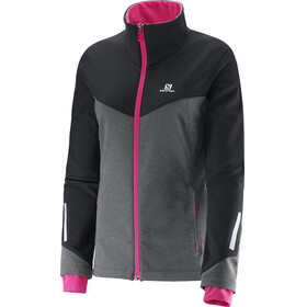 Salomon W's Pulse SS Jacket Galet Grey / Black